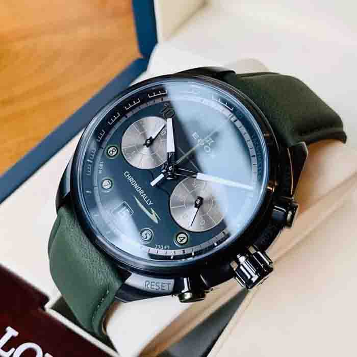 Đồng Hồ Nam  EDOX Chronorally Chronograph Black Dial Men's Watch