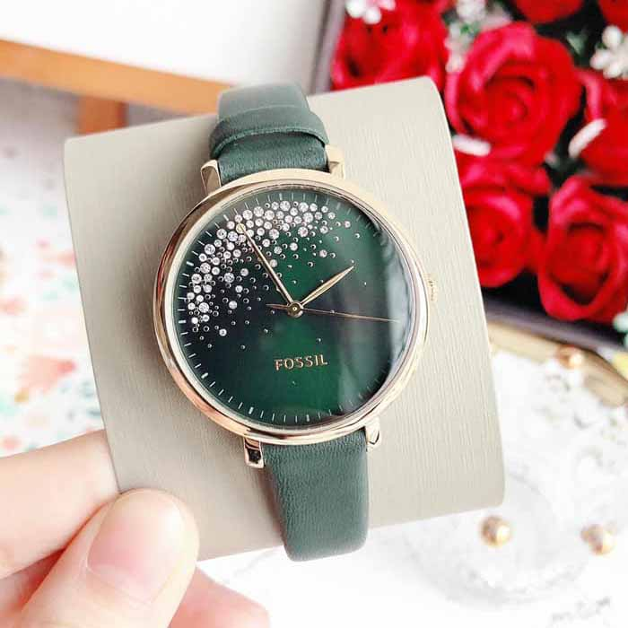 ĐỒNG HỒ Fossil Green Leather