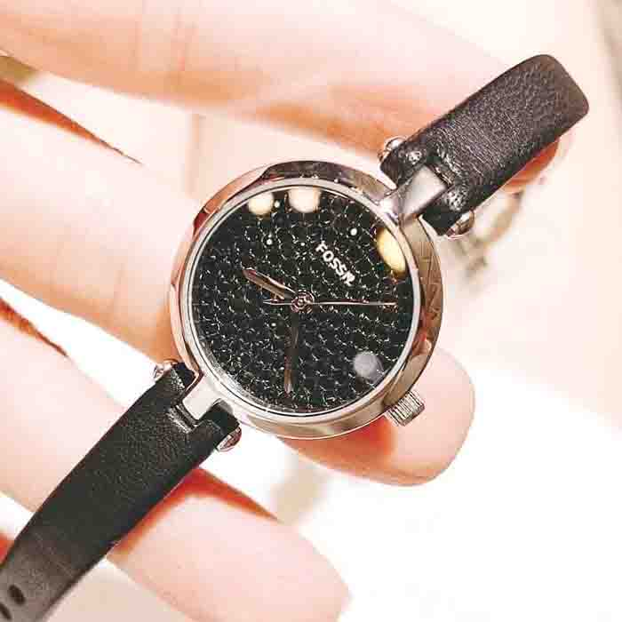 Đồng hồ Fossil Black Leather