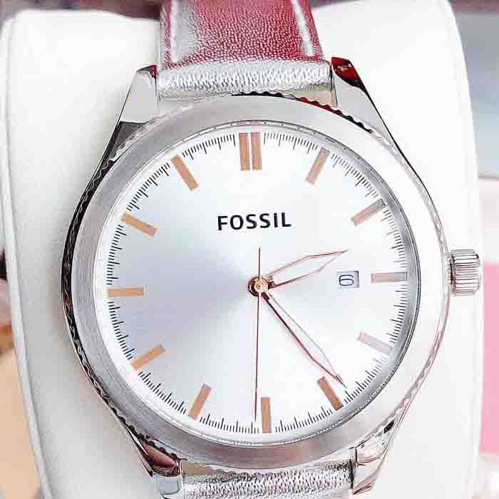 Đồng hồ Fossil Leather Silver